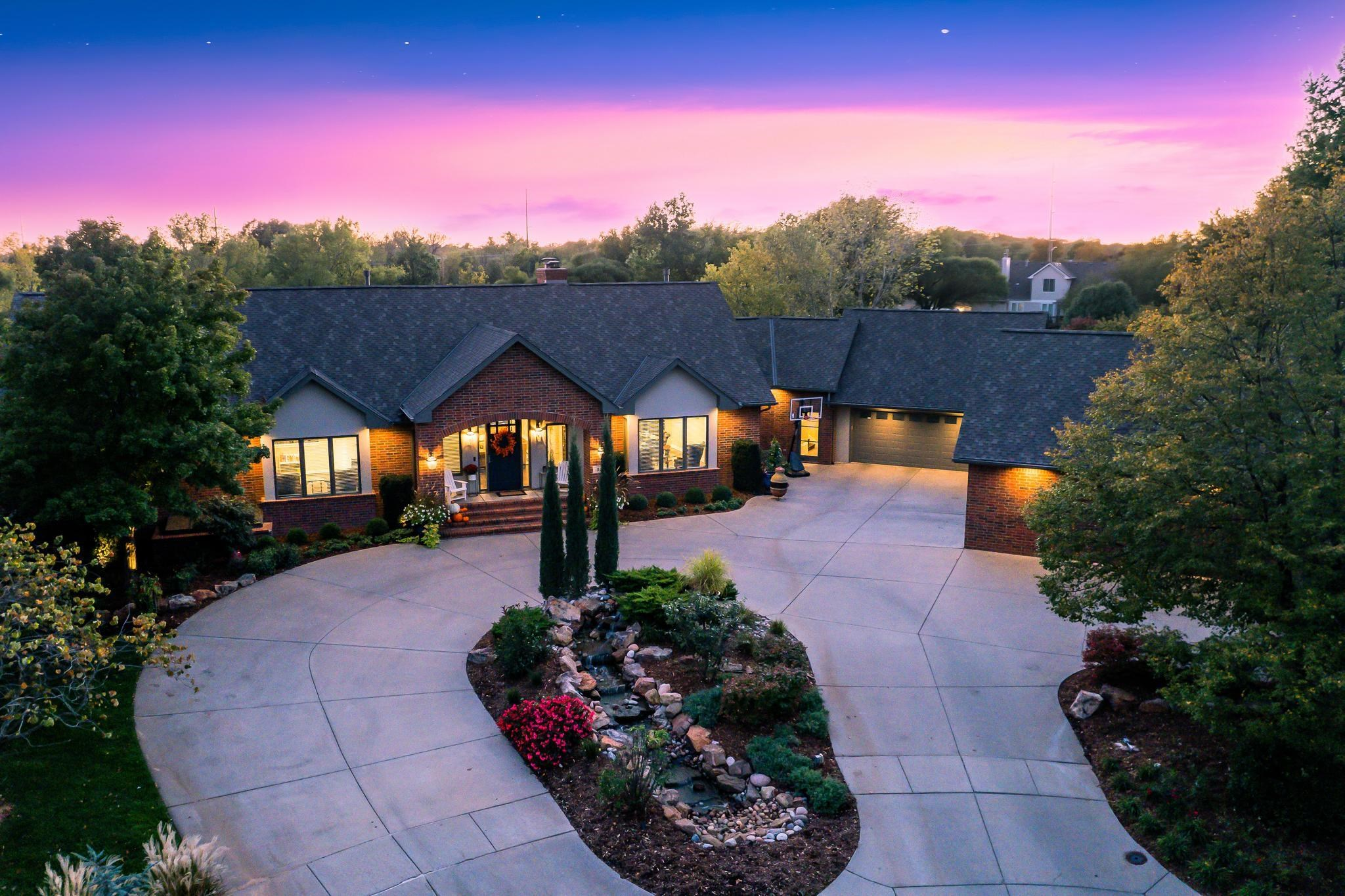 Waterfront home on 1.73 acres that has been elegantly remodeled throughout, situated at the end of a