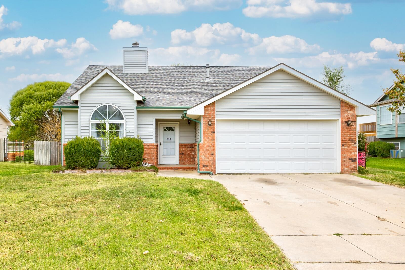 Cute home in Maize School District.  Its a 4 BR with a family room on lower level or its a 5 bedroom