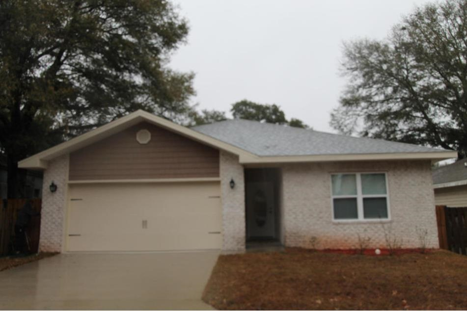 Built in 2015,  813 Dawes Road is ready for a new owner. This 3 bed | 2 bath  home is ideal for anyone looking for new construction but does not have the time to wait for a new build.   Given its central location this home is very convenient to both Hurlburt Field & Eglin AFB. The home features an open floor plan with a  large eat - in kitchen. Master suite has a whirlpool garden tub, large walk - in closet, a double vanity with granite counter-top and an indoor laundry room.   This home is currently occupied with a tenant that is on a month to month lease and will require a 24 hour notice for all showings. The photos attached reflect the home prior to the tenants moving in.  Buyer to verify all dimensions.