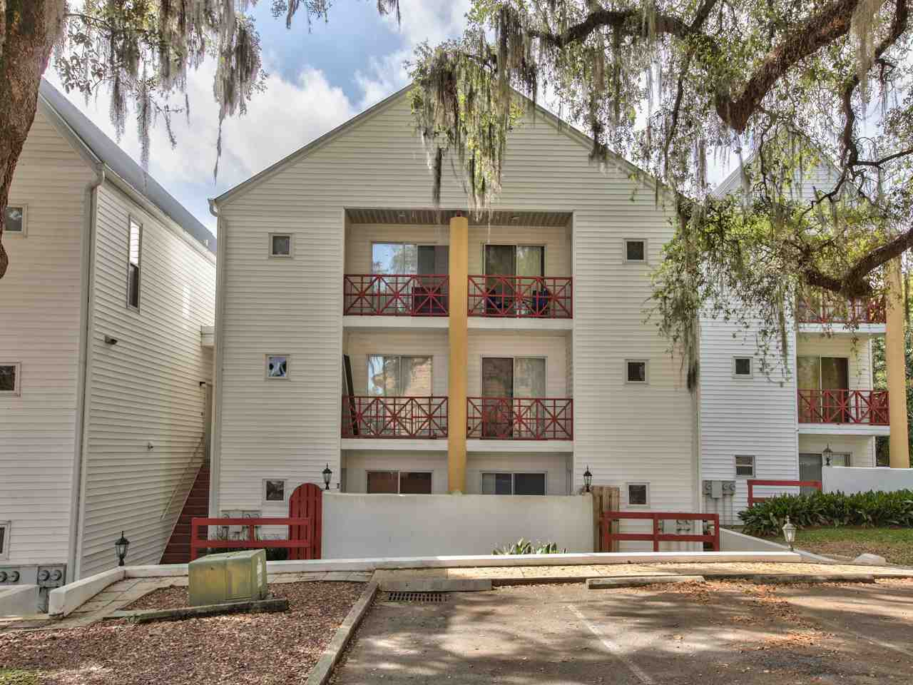 Appointments made thru LA- leased thru 4/30/21. Clean ground floor student condo in highly sought-after complex in the shadow of Doak Stadium! Condos in this complex never last long! Newer kitchen appliances. Use 2 parking permits or walk to the game, class, bus stops, restaurants, & College Town. Low maintenance, 2 bedrooms, 2 full baths, freshly painted, covered patios and full-size washer/dryer. HOA fees include exterior bldg and common area maintenance and insurance, trash, water, and sewer. Gorgeous 100-year oak trees adorn this FSU gem. Buyer to verify all measurements. Mostly owner occupied. Don't miss out on this INVESTMENT!