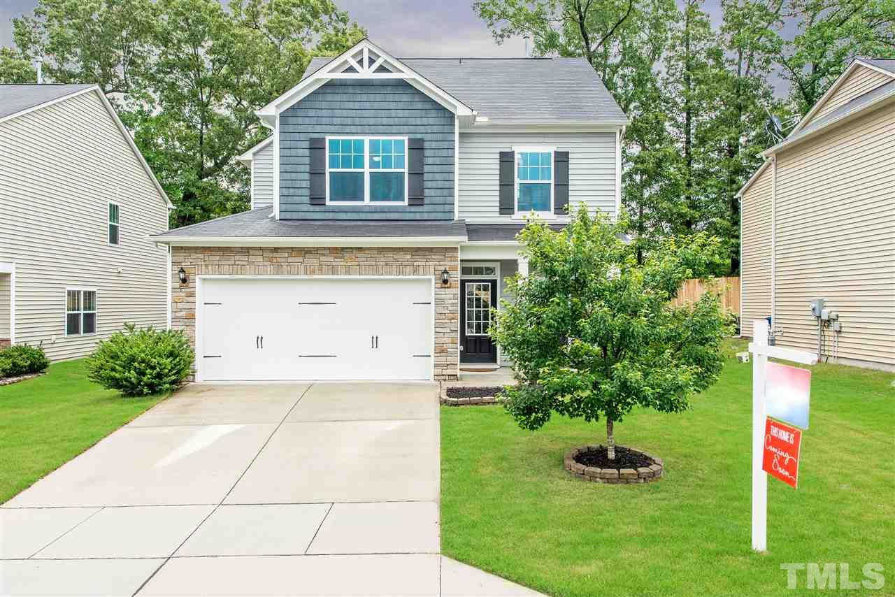 All you'll be saying is when can I move in?! Low maintenance home with fenced backyard! Rich hardwood floors throughout first floor! Gourmet kitchen with granite counters, stainless steel appliances, birch cabinets & walk in pantry! Music port & stash center! Family room flows to dining room with slider to patio! Awesome size master suite with walk in closet, dual vanities, finished with tile! Large utility room! Community Pool! Easy access to Buffalo Road Aquatic Center, Neuse River Trail & 540.