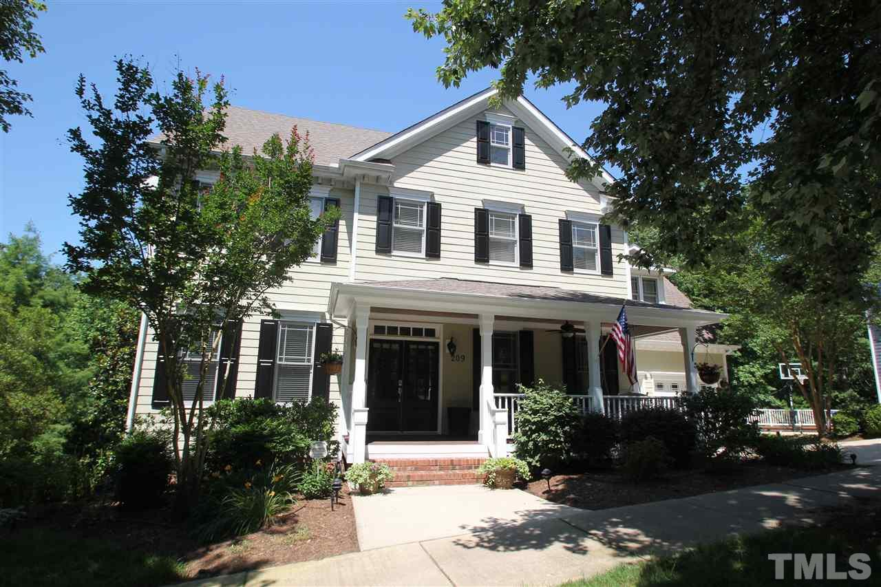 Image of beautiful single-family house in Southern Village, Chapel Hill, NC