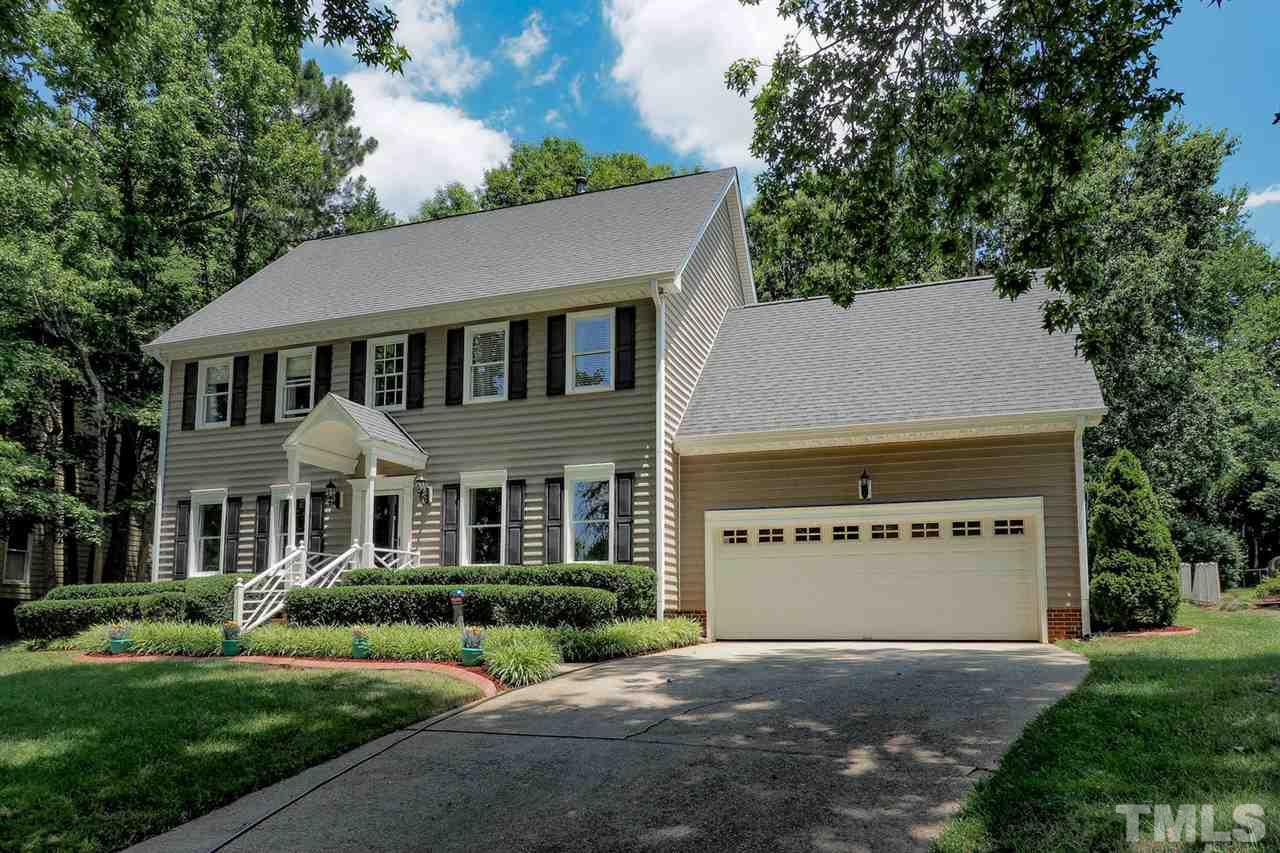 Gorgeous RENOVATED home in Lochmere! New hardwood in family room, gourmet kitchen with new granite, SS appliances. Wonderful 3 Seasons room with skylights & windows. Family room w/fireplace that open to living room for better entertainment. Nice master bedroom with double vanities, master bath with walk-in shower and walk-in closet. 4 other bedrooms on second floor. Huge bonus room on third floor with large window. Deck overlooking lush & private back yard. Enjoy Community pools, tennis & walking trails.