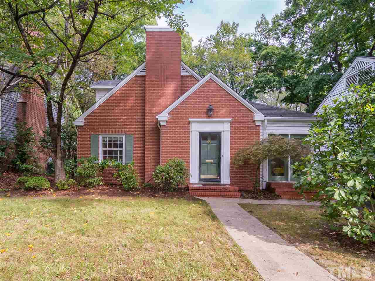 Image of lovely brick house in Trinity Park, Durham, NC