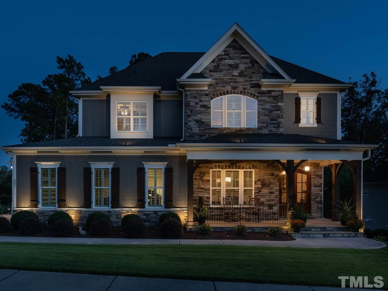 12 Oaks welcomes you to this 5br 5ba fully custom home with well appointed finishes throughout. 10' ceilings on main level cover a formal DR, large open FR with stone fireplace, eat-in kitchen island, custom cabinetry, and large breakfast area overlooking private backyard. Guest room on main level perfect for overnight guests. 4 spacious br's & 3ba upstairs. Basement with huge bonus room, bar, brk area, theater room, wine cellar, safe room and ample storage. Outdoor living with fireplace, grill, firepit!!