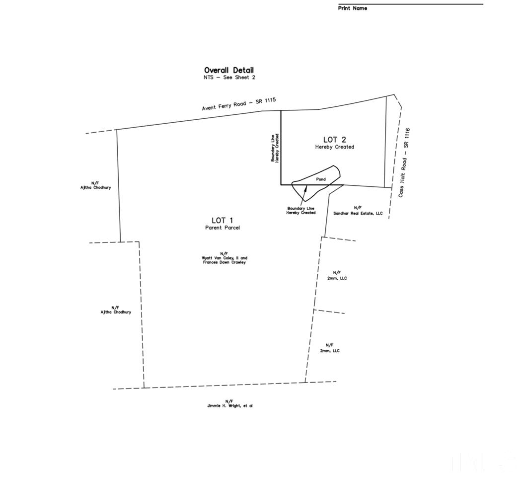 Property for sale at 1601 Avent Ferry Road, Holly Springs,  NC 27540