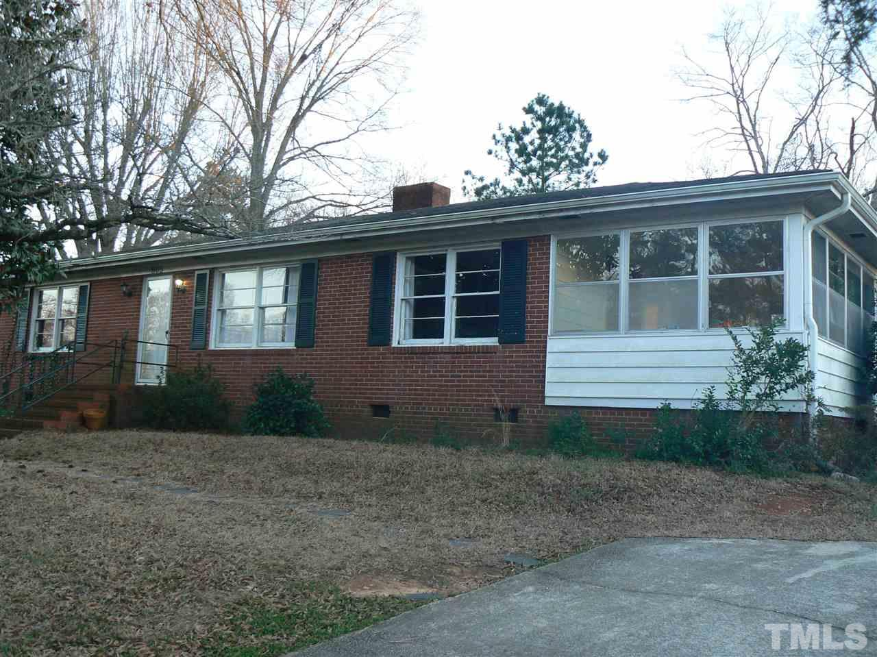 "This is a Short Sale. Lender must approve sale. All brick, 2 bed, 1 1/2 bath in Forest Hills. Good original hardwood floors in main portion of house. Vinyl in Kitchen and baths. This home needs a roof and much interior love. great proximity to Raleigh, I-40 and Hwy 401. Super opportunity for the right person. Home to be sold ""as is""."