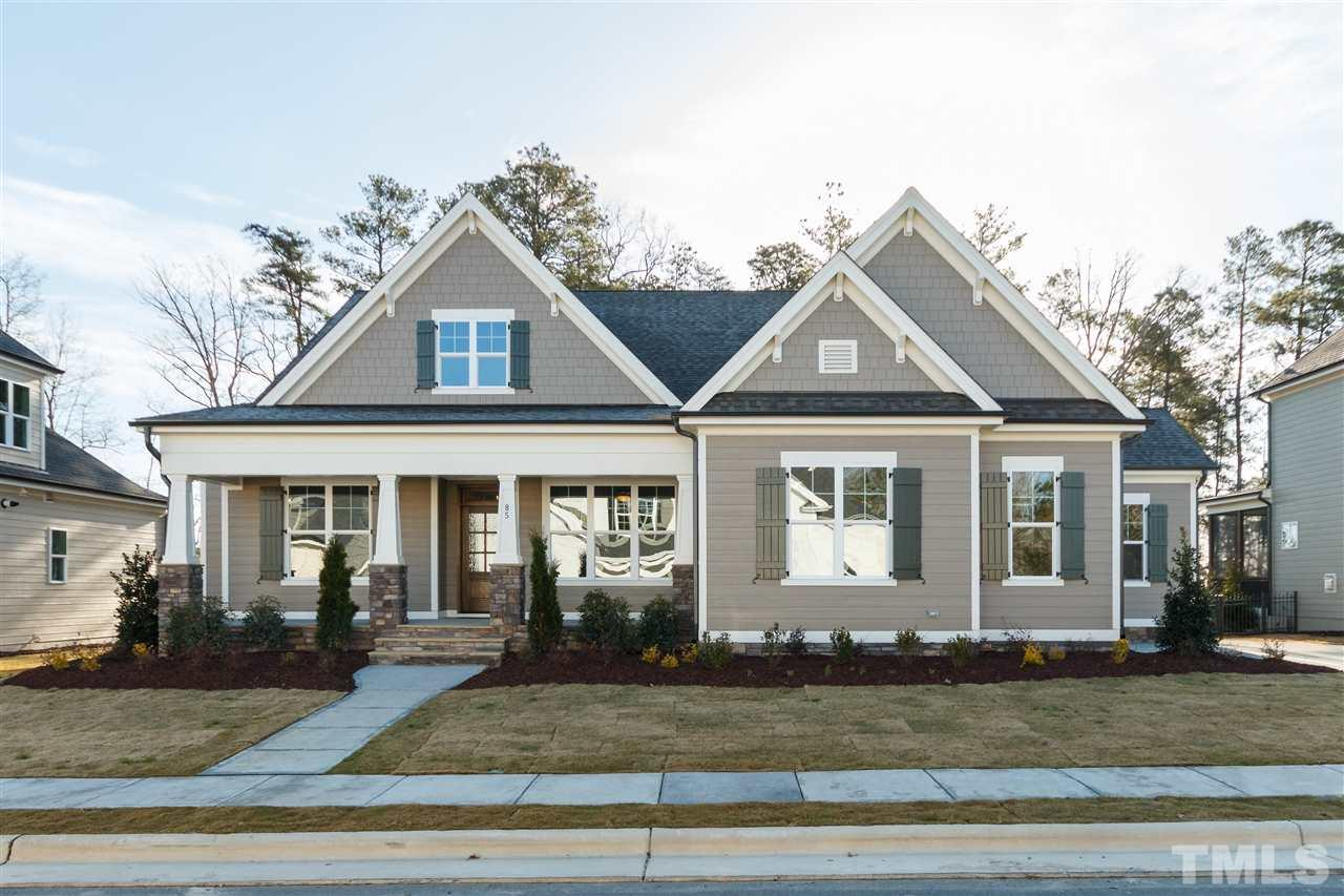 "Pre-Sale for Comp Purposes: This custom ""Fairview"" green-certified home on a WOODED homesite in Briar Chapel is by locally-owned Homes By Dickerson. Ranch plan with Owner's suite, study, dining, guest bedroom, screened porch & open kitchen/living area all on main level. 2nd floor bonus & guest bedroom w/ walk-in access to ample storage. Custom craftsman trim package & built-ins, site-finished hardwood floors, grilling deck, tankless hot water, upgraded appliances, tiled screen porch, & more!"
