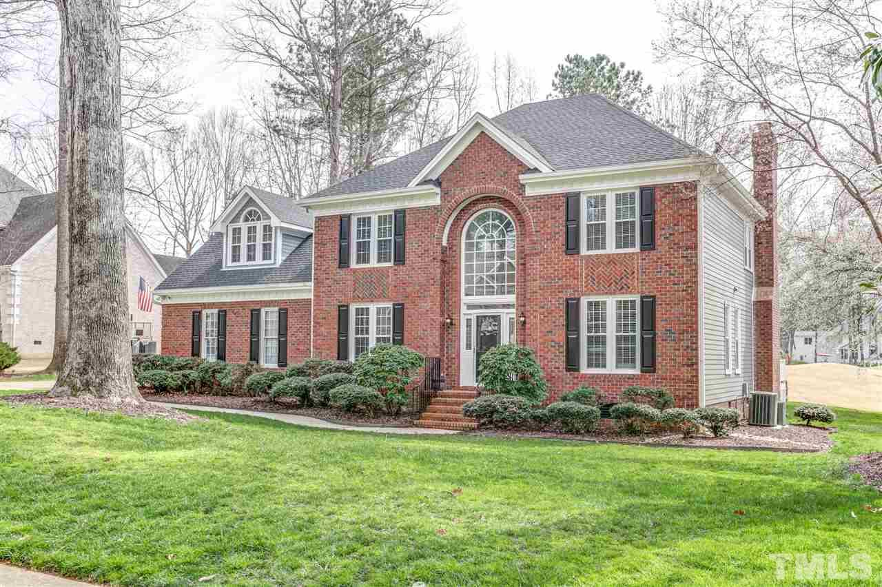 Stunning home w/upgrades galore on ideal .42acre golf course lot overlooking the 6th hole! Hardwoods thru main, heavy crown, transoms, formals+family room, tankless water heater, newer roof in '14, newer windows & so much more! Gorgeous chef's kitchen w/gas cooktop, SS, granite, subway tile, butler's pantry & bill desk! Master suite has eye-catching double tray ceiling & reno'd bath w/whirlpool tub! All BRs have direct access to a full bath! Unfin walk-up attic & 2.5car garage. Deck & large flat backyard!