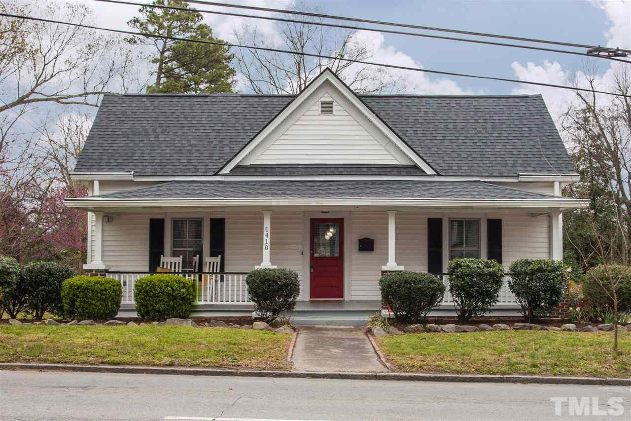 Gorgeous, restored home in Trinity Park! Roof, plumbing, electrical & HVAC - new in 2015. Open Floor plan w/10' ceilings & large windows. Heart pine floors, original wainscoting, shiplap walls, bead board ceilings. Open kitchen w/recessed lighting, custom eat in/center island. Master suite has WIC (w/window!) & privacy bath. Master bath features dual vanity sinks & soaking tub. Fenced backyard. Detached garage. Walking distance to Greenway, restaurants & shops! Minutes from Downtown Durham. Welcome Home!