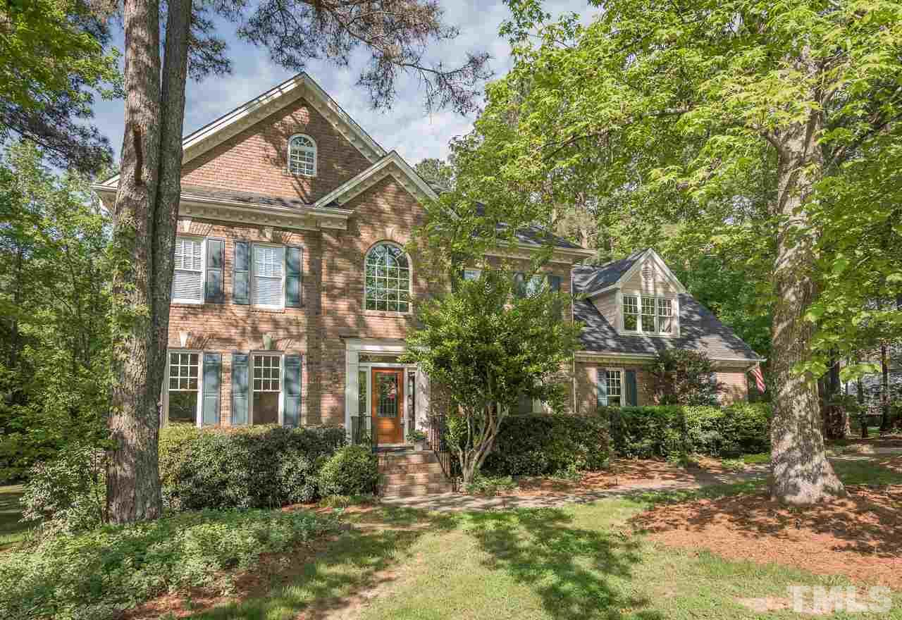 Stately, move-in ready custom-built home on 0.918 acres, offers welcoming spaces inside & out. 1st flr: family, study, sep dining, gourmet kitchen w/ granite & breakfast nook. 2nd flr: 4 BRs, 3 full BA & large rec room. Finished 3rd flr bonus w/ full BA. Features: refinished hardwoods, fresh painted int, updated kitchen, oversized side entry garage, new roof, water softener/filter. Private wooded yard w/ sunroom, large deck & cul-de-sac st. Neighborhood-lake, fishing, walking trails & more. No city taxes.