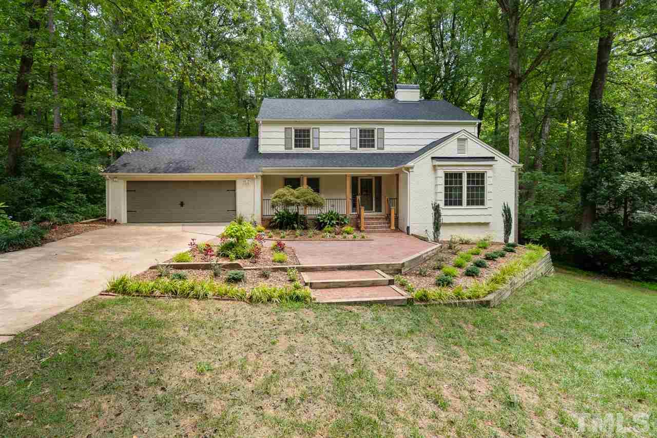 Desirable North Hills home located on just over 1/2 acre! No HOA! New electrical! Newer roof! Perfect for entertaining...inside and out! Private backyard - with screened-in porch, deck, hot tub and stream at the back of the property where you can see the occasional deer! Four bedrooms, each having a corresponding bathroom (no sharing!). Tons of space with Rec room, flex space, office and unfinished storage. Easy access to I-440 and within walking distance of Midtown shops, dining and other amenities!