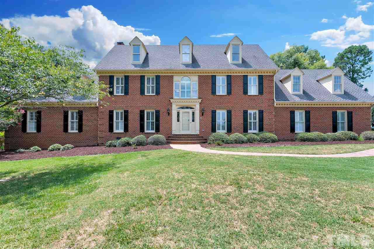 Stunning CUSTOM built brick home in sought after Foxcroft! New paint, new carpet, and several upgrades. Enjoy and prepare meals in the expansive kitchen/breakfast nook/sunrm area. Spacious den with a wet bar! Perfect for entertaining inside and out. Choose to make Master up or down. Master bedroom suite upstairs has 2 walk in closets with a unique his and her baths and gas fireplace! Bonus rm w/ fireplace and wet bar. RARE 4 GARAGE and a enormous driveway. Minutes to downtown for restaurants and shopping!