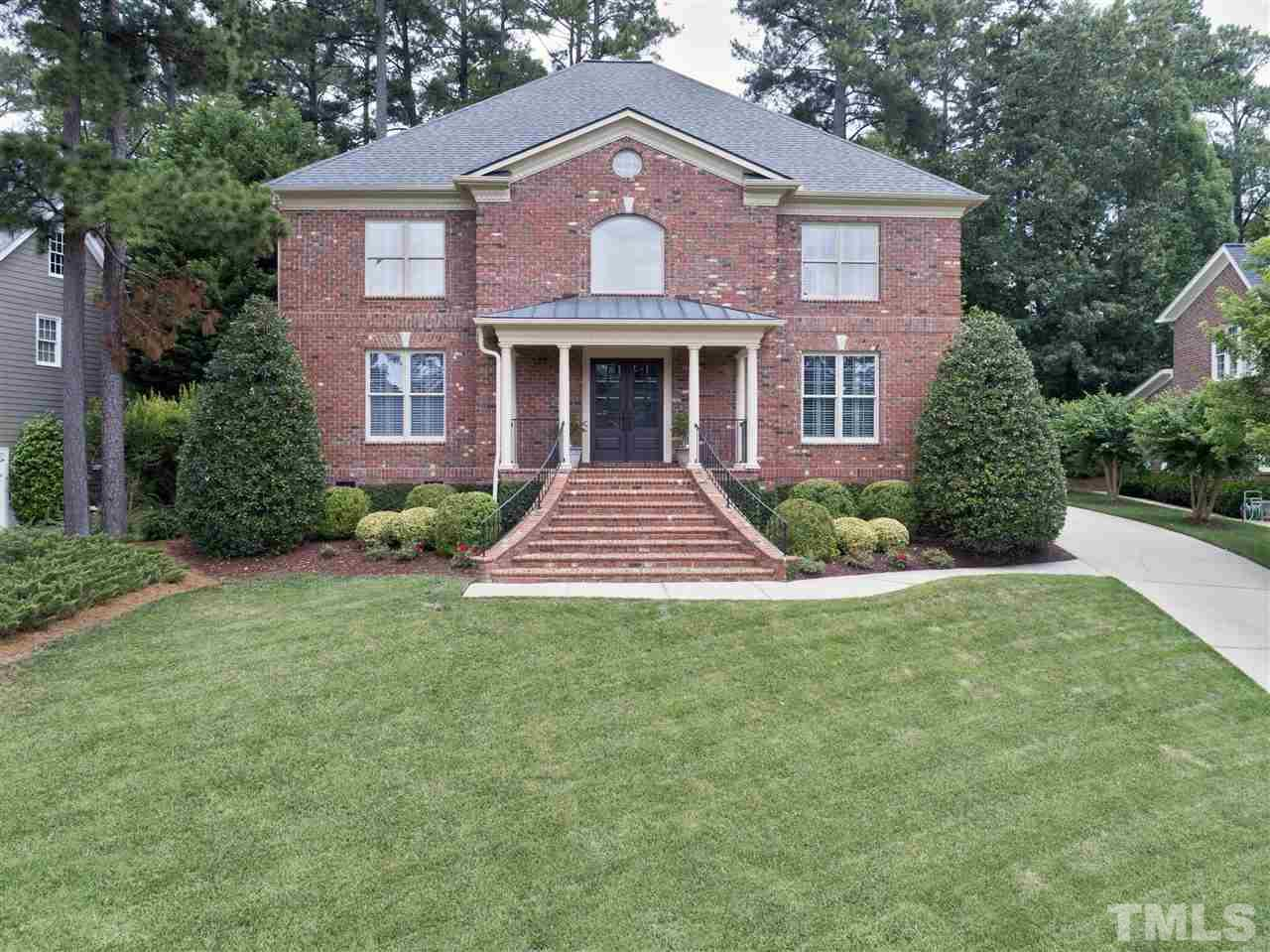 Custom Charleston Style Home in PRESTON.All Brick w/ Rare 3 Car Garage.This Unique home features an Open Floor Plan w/ Soaring Windows.Grand Foyer has Updated Staircase.Chef's Kitchen features Soapstone CTops,Island,SS Gas Range,Glass Cabs & Wine Fridge.Spac Bfast Rm Opens to 2 Story FR w/ Fireplace & Built Ins.Sunroom/Office on Main.Master Retreat w/HWoods,HisHerWICs,Updated Bath.Sec BRs w/ Private BA Access.Bonus on 3rd has Full BA & can be 5th BR.Charleston Courtyard Patio & Garden.Mins to RTP/Airport.