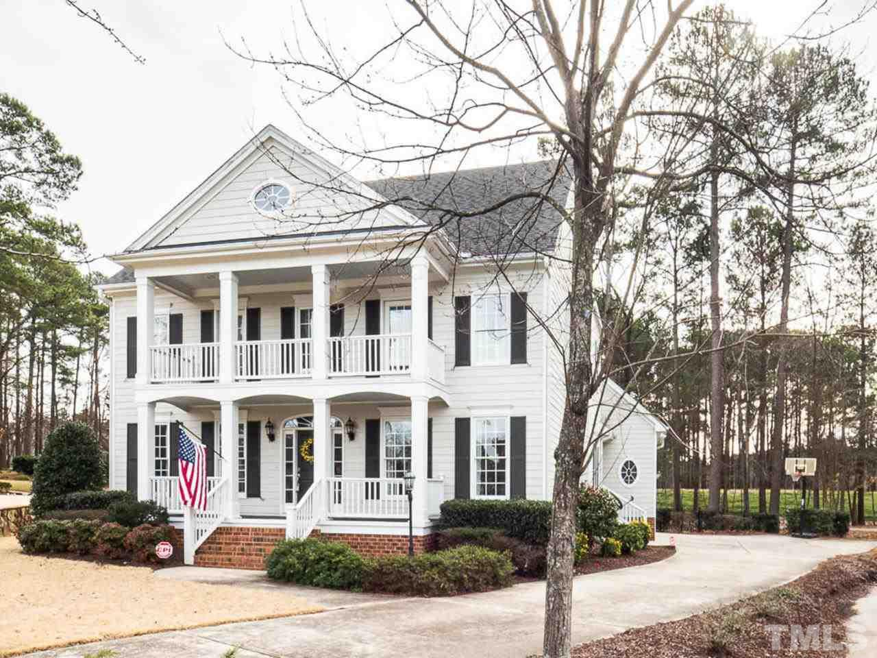 Charming Charleston  Home Located in Popular Preston Grande. 4 Bedrooms and 31/2 Baths. Shows Like A Model Home. Newly Refinished Hardwoods and Freshly Painted. Light, Bright and Airy. Open Kitchen/ Family Room. Large Master Suite and Spacious Secondary Bedrooms. Updated Baths. Great Bonus Room and Third Floor Rec Room. Great Lot on a Cul-De-Sac. Beautiful Golf Course View and Easy Golf Cart Access. Close to Prestonwood CC/ Great Location convenient to RTP and the Airport.  Best Schools in the Area