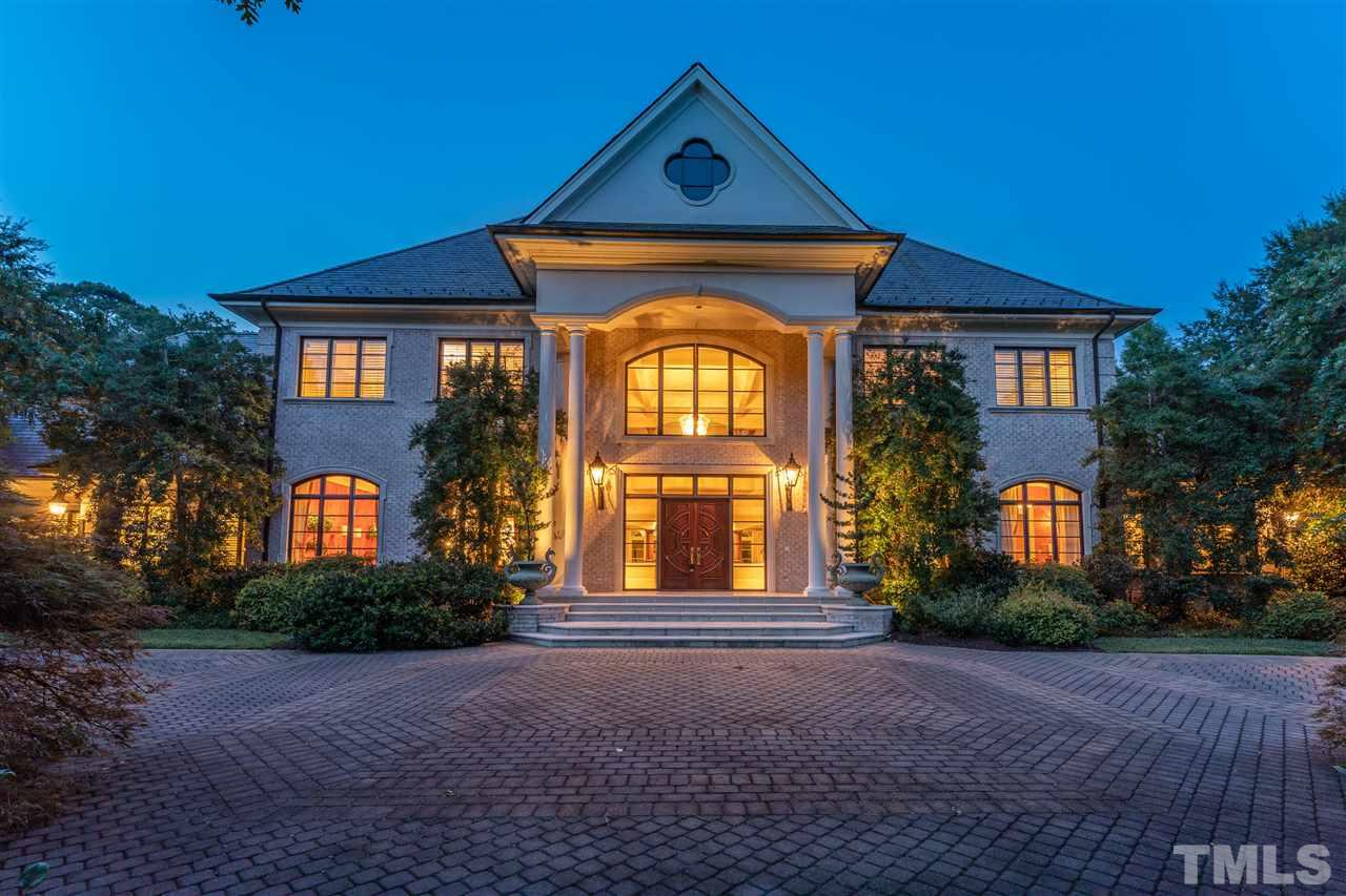 Miraculous North Raleigh Estate in gated Bent Leaf Farms.Nestled peacefully on a 3.86 acre lot & minutes to Falls Lake,I540,RDU Airport & Research Triangle Park. Elegant 2-Story,Marble Foyer w/Koi Pond.Gourmet Chef's Kitchen.1st Floor Master Retreat w/ Fireplace,Sitting Room, Private Study,Custom Walk in Closet, & Luxurious en suite.1st Floor Guest Suite w/private living area & kitchen.Private Oasis w/ Veranda w/outdoor kitchen,heated pool,jacuzzi & his&her bath houses. Truly a One of a Kind Masterpiece.