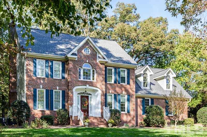 Curb Appeal!  Front view of this elegant brick front home!