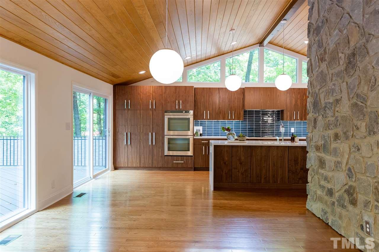 A grand kitchen and dining space