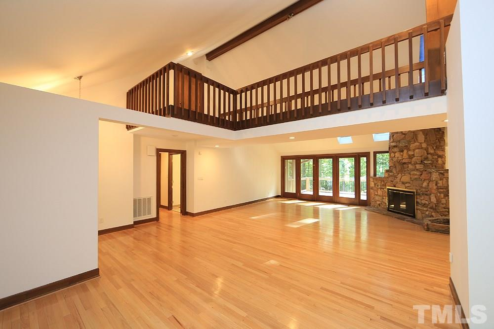 Vaulted ceiling and second floor loft space
