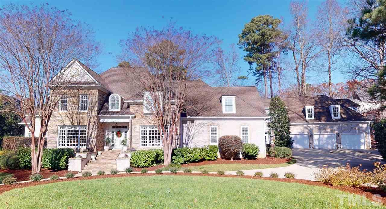 """CstmBlt by Daryl Cady as his personal home & was on the """"Street of Dreams"""" home tour! 36x28 3-Car Garage! Private Bckyd can Accomodate a Pool! MusicRm & DiningRm! Heavy CrwnMldg & Trimwk! 1stFlr Mstr w/Sittng Area & Elegant Bth! FamRm w/CstmBltns, GasLgFP & Balcony! Kit opens to FamRm! Turret Style BrkfstNk w/Balcony abve! Huge LaundryRm! SunRm, ExerciseRm, Hot Tub Rm! 1stFlr PlayRm! 2ndFlr w/Office, Library, 5 Bdms, Teen/Guest Ste w/TV Rm, Lounge & Huge Bonus w/Private Entrance! Heart of Cary Location!"""