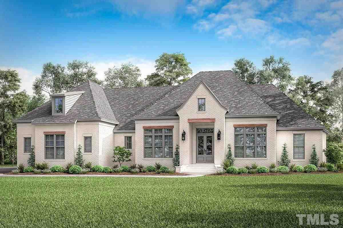 Stunning custom home to be built on waterfront lot in sought after Heritage Pointe in Apex! Large 4+ acre lot with water views. Home planned has open floorplan, main floor master and main floor guest, large great room, full finished basement. Features high end appliances, granite counters, gourmet kitchen with walk in pantry. Construction has not yet started, act now to make changes or build to suit on this beautiful lot in Heritage Pointe. Buyer to carry CP financing.