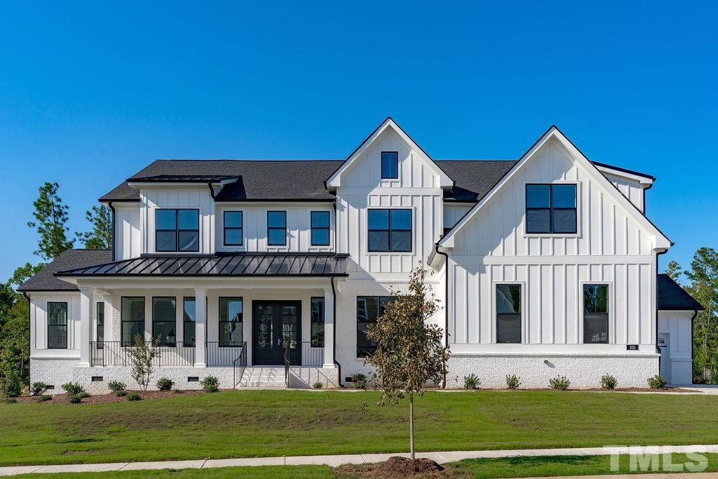 Welcome to this gorgeous BRAND NEW Modern Farmhouse in Addison Pond! Custom home! 5 beds, all w/ en-suites & 5900 sq ft of living space! Private office & 1st flr potential in-law space. Massive island & spacious kitchen are an entertainer's dream. Huge primary bedroom retreat w/ spa bath,custom closet & additional office/gym space.Open your 4 panel glider doors for indoor/outdoor living! Cozy brick outdoor FP overlooking your future pool. Very private FLAT lot. Full hot tub/pool renderings available!