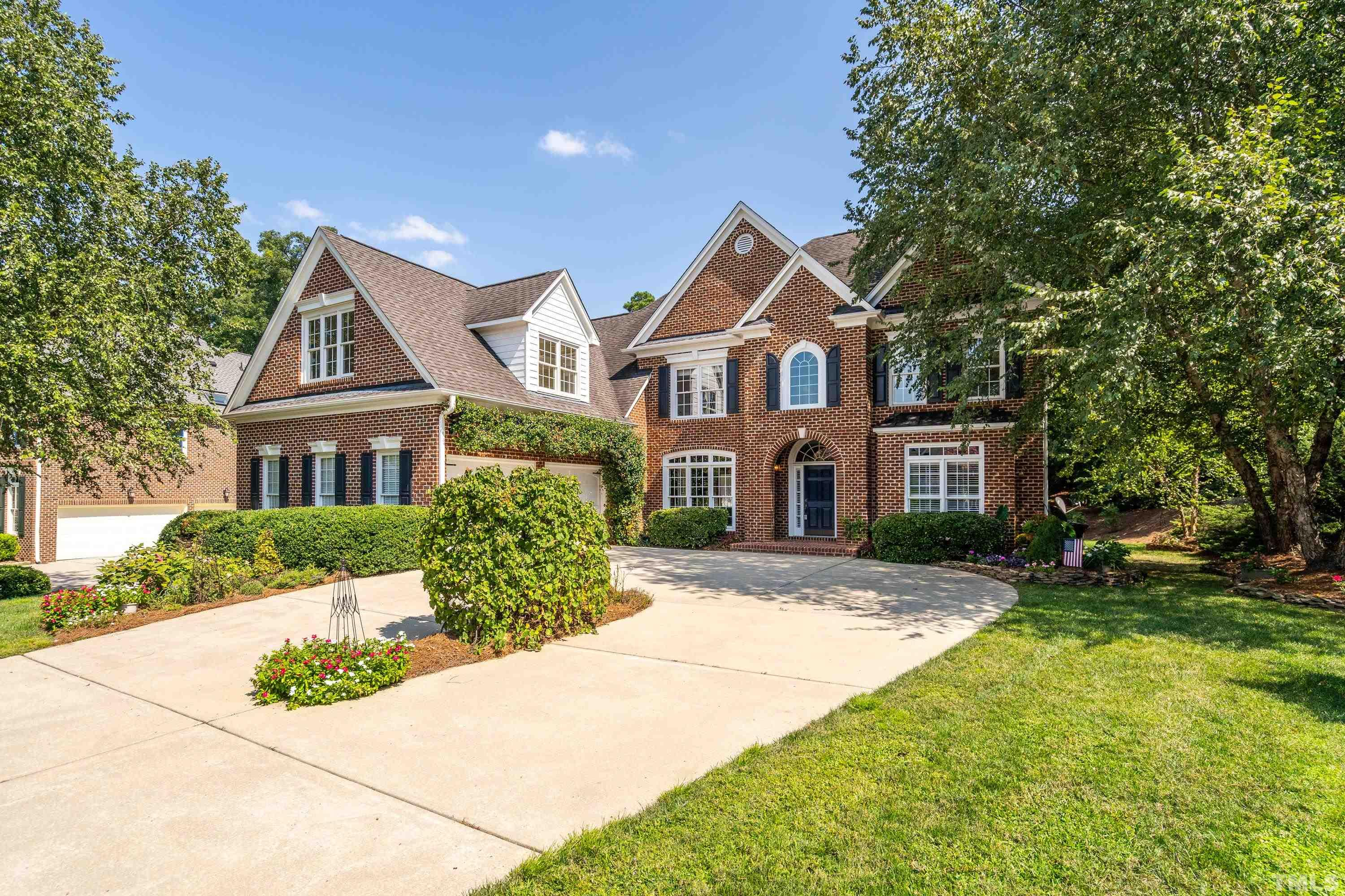 Stunning all-brick custom home in sought after Weston Estates. Gourmet chef's kitchen w/ large center prep island & breakfast nook open to a 2 story family rm w/ gas fireplace. Separate formal dining rm, living rm, Office/Flex rm & full bath on first floor. 2nd floor boasts a luxurious owner's suite w/ retreat rm & 3 addtl bedrooms. Finished 3rd floor Rec Room w/ full bath. Cathedral ceiling 3-season rm  w/ wood burning fireplace overlooking beautifully landscaped backyard. Close to RTP, SAS, Apple, RDU!